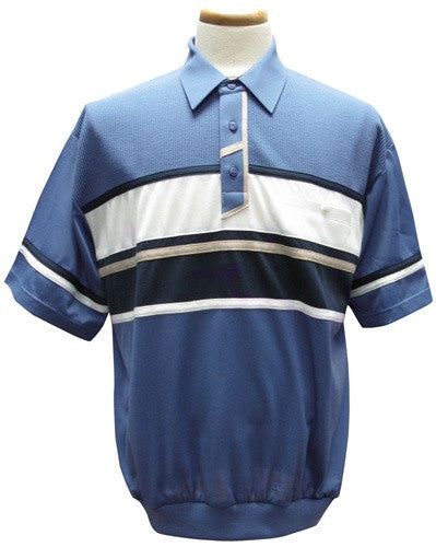 Classics by Palmland Knit Banded Bottom Shirt - 6010-386 Marine - theflagshirt
