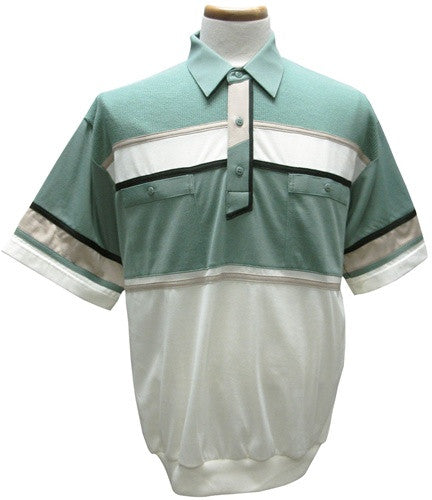 Classics by Palmland Knit Banded Bottom Shirt - 6010-392 Sage - theflagshirt