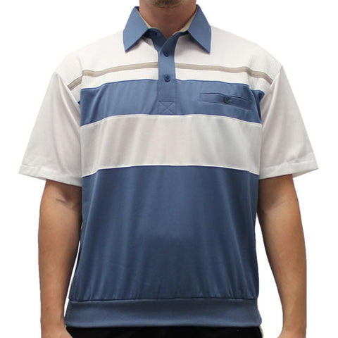 Classics By Palmland Knit Short Sleeve Banded Bottom Shirt 6010-674 Marine - theflagshirt