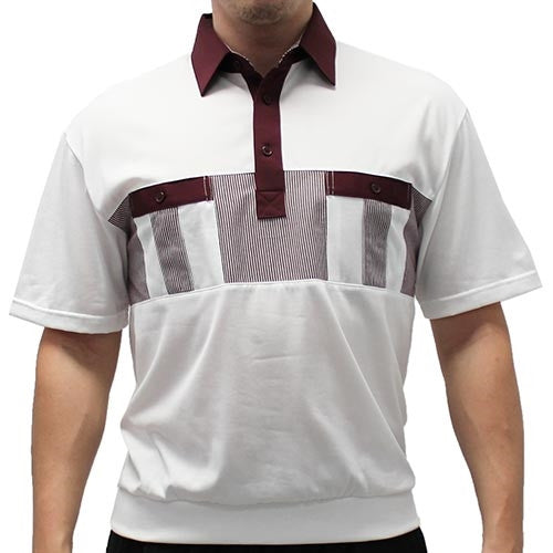 Classics By Palmland Knit Short Sleeve Banded Bottom Shirt 6010-691 Burgundy - theflagshirt