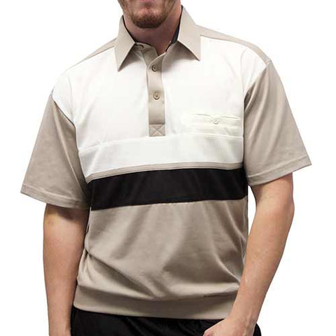 Classics By Palmland Knit Banded Bottom Shirt - 6010-703 Taupe - theflagshirt