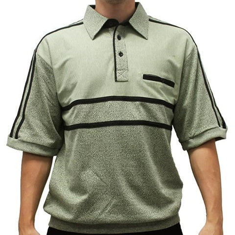 Classics by Palmland French Terry Short Sleeve Banded Bottom Shirt - 6010-972B Sage - theflagshirt