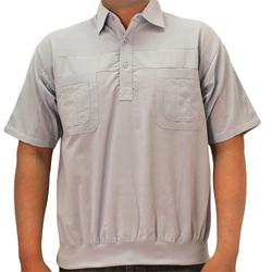 Big and Tall Palmland S/S 4 pocket Woven Banded Bottom Shirt - 6030-200BT Light Blue - bandedbottom