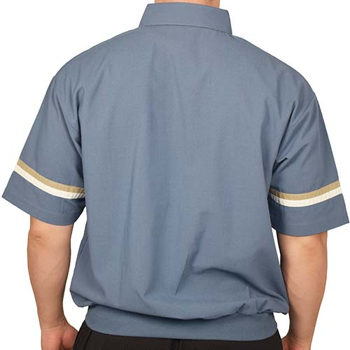 LD Sport Woven Banded Bottom Polo Shirt - 6030-402 - MarineBT - theflagshirt
