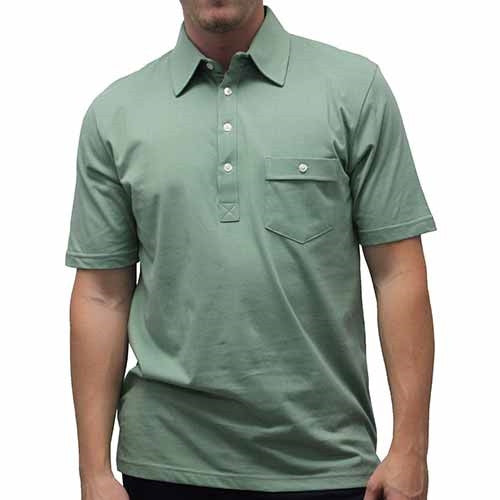 Palmland Solid Textured Short Sleeve Knit Big and Tall Sage - theflagshirt