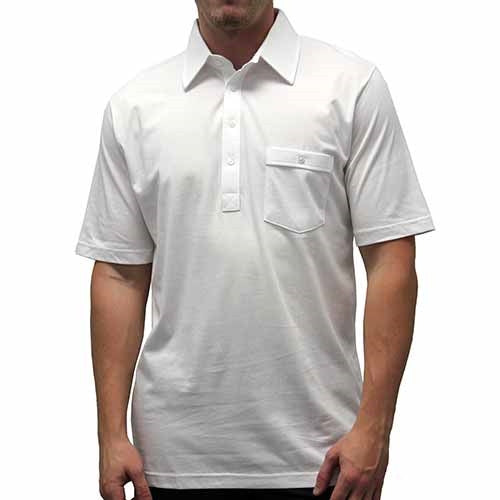 Palmland Solid Textured Short Sleeve Knit Big and Tall White - theflagshirt