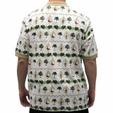 Palmland Club Men's Hawaiian Shirt - 6065-104 Natural