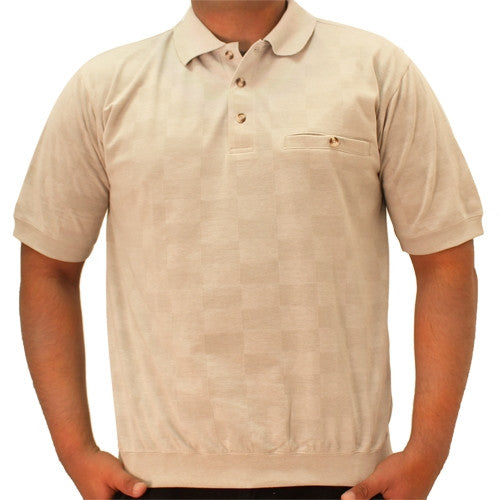 Safe Harbor Short Sleeve Banded Bottom Shirt - 6070-220 Khaki - bandedbottom
