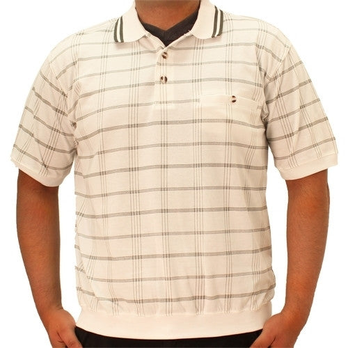 Safe Harbor Short Sleeve Banded Bottom Shirt - 6070-221 Big and Tall White - theflagshirt
