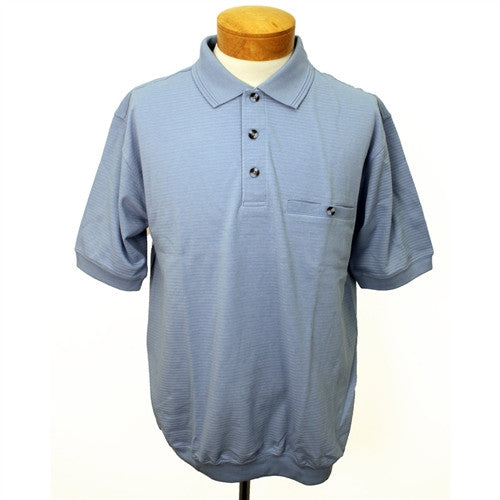 Safe Harbor Short Sleeve Banded Bottom Shirt 6070-223 Light Blue - bandedbottom