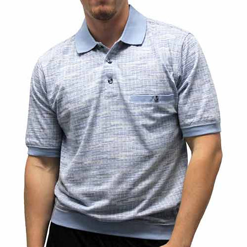Classic by Palmland Allover Short Sleeve Banded Bottom Shirt 6070-247 - theflagshirt
