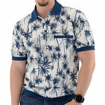 Load image into Gallery viewer, Classics by Palmland Short Sleeve Jacquard Banded Bottom Shirt - 6070-321 - theflagshirt
