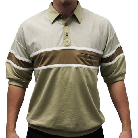 Woodland Trail French Terry Short Sleeve Banded Bottom Shirt 6090-160 Taupe - bandedbottom