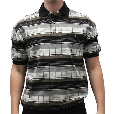 LD Sport Allover Short Sleeve Banded Bottom Shirt 6090-501 - bandedbottom