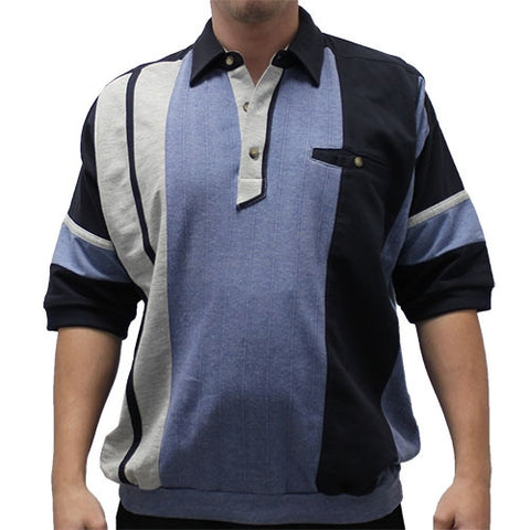 Classics by Palmland French Terry Banded Bottom Shirt - 6090-581J-Big and Tall - Blue Hth - theflagshirt
