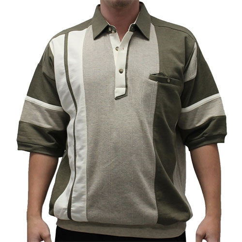 Classics by Palmland French Terry Banded Bottom Shirt - 6090-581J - Khaki - theflagshirt