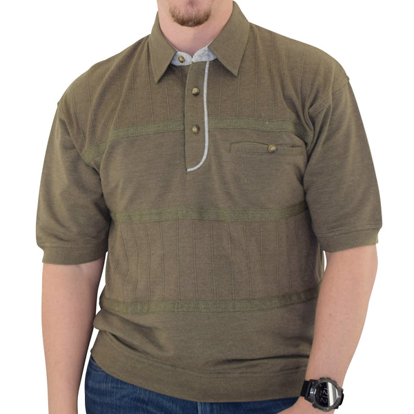 Classics by Palmland French Terry Banded Bottom Shirt - 6090-620J Olive - theflagshirt