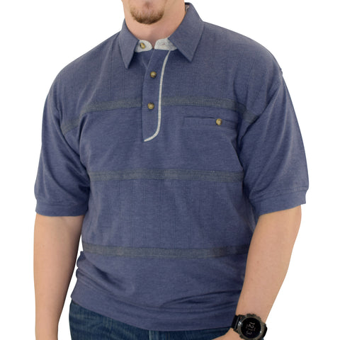 Classics by Palmland French Terry Banded Bottom Shirt - 6090-620J - Navy - theflagshirt
