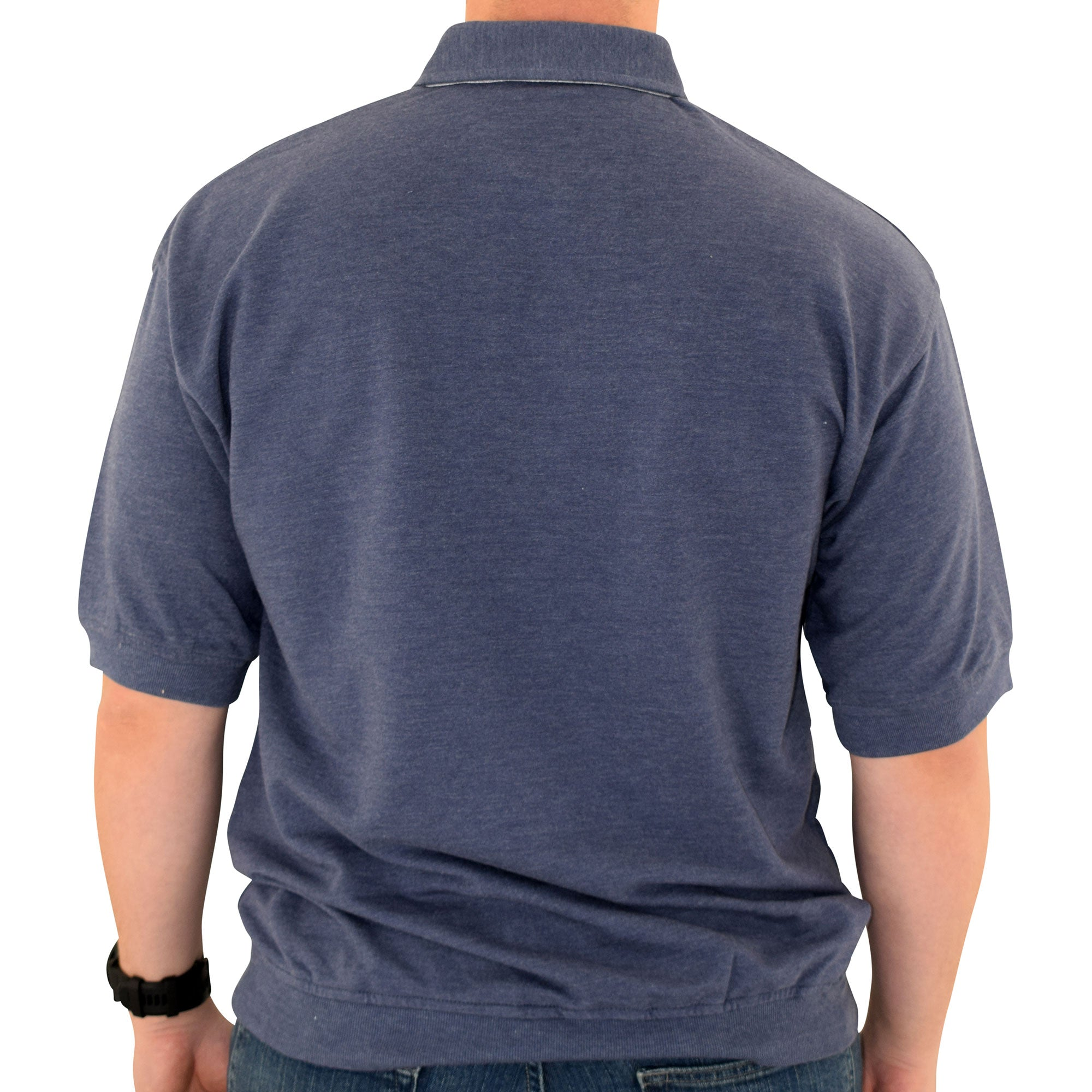 Classics by Palmland French Terry Banded Bottom Shirt - 6090-620J - Navy - bandedbottom