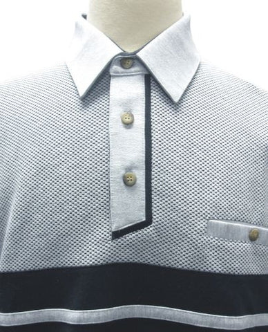 Classics by Palmland French Terry Short Sleeve Banded Bottom Shirt 6090-652 Grey - bandedbottom