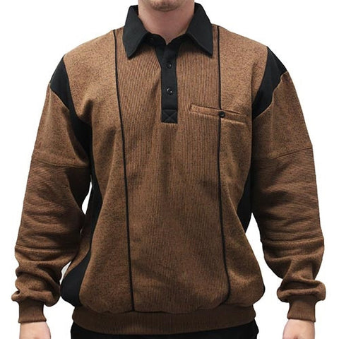 Classic by Palmland Two Tone Banded Bottom Shirt 6094-165B Bronze - theflagshirt