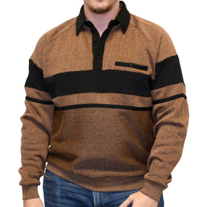 Classics by Palmland Two Tone Banded Bottom Shirt 6094-169B Bronze
