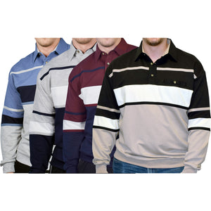 Best of the Stripes - 4 Long Sleeve Shirts Bundled