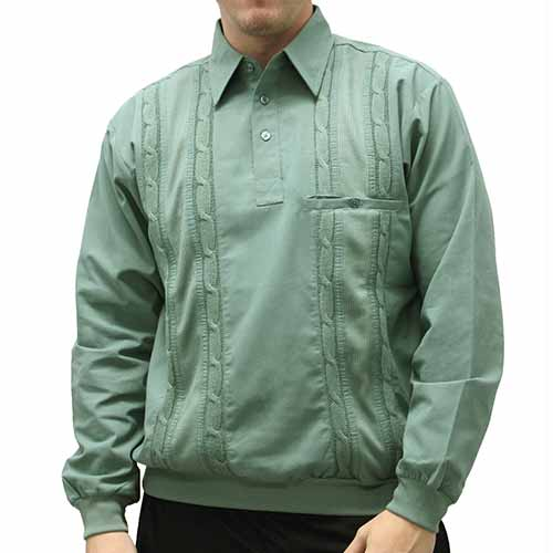 Palmland Cable Knit insert Pullover Big and Tall - 6097-425 Sage - theflagshirt