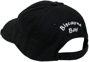 Biscayne Bay Tattered Hat black - banded bottom