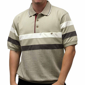Safe Harbor Short Sleeve Banded Bottom Shirt 6190-123 Khaki - theflagshirt