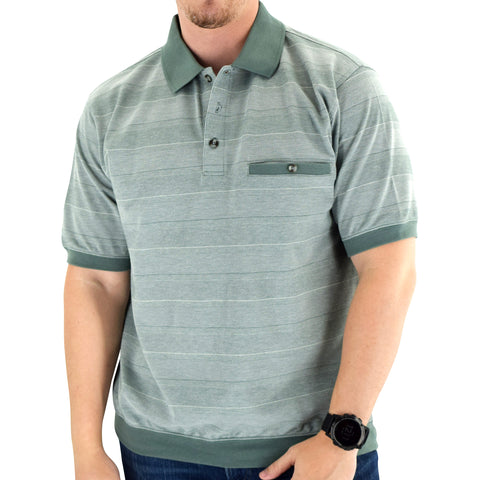 Classics by Palmland Short Sleeve Banded Bottom Shirt 6190-319 Sage - theflagshirt