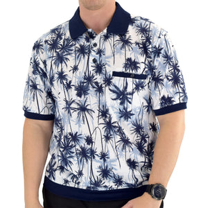 Classics by Palmland Short Sleeve Polo Shirt Big and Tall - Navy - 6190-325 - theflagshirt