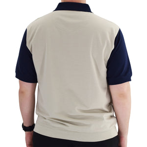 Classics by Palmland Short Sleeve Polo Shirt 6190-326 Big and Tall - Navy - theflagshirt