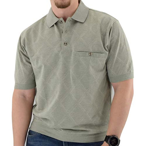 Classics By Palmland Allover Short Sleeve Banded Bottom Shirt 112027 - theflagshirt