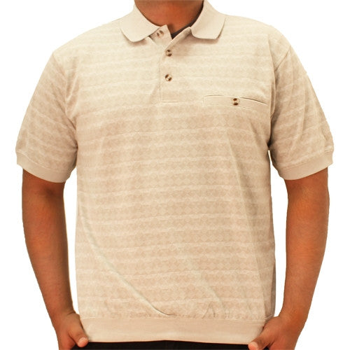 Safe Harbor Allover Short Sleeve Banded Bottom Shirt - 6191-338 - bandedbottom