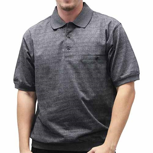 Safe Harbor Allover Banded Bottom Shirt - 6191-358 Black - theflagshirt