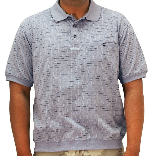 Safe Harbor Jacquard Short Sleeve Banded Bottom Shirt 6191-367 LT.Blue - theflagshirt
