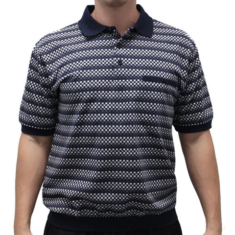 Safe Harbor Allover Banded Bottom Shirt - 6191-400 - bandedbottom