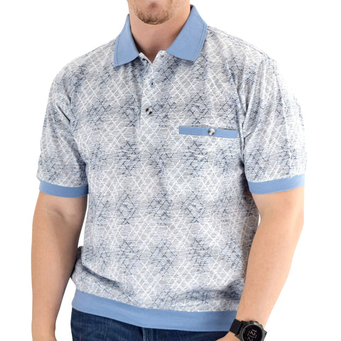 Classics by Palmland Short Sleeve Banded Bottom Shirt 6191-405 - theflagshirt