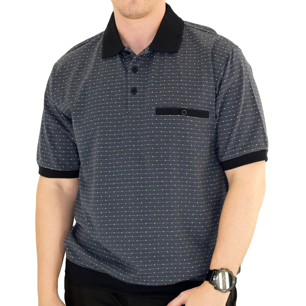 Classics by Palmland Short Sleeve Polo Shirt - Black -6191-412 - theflagshirt