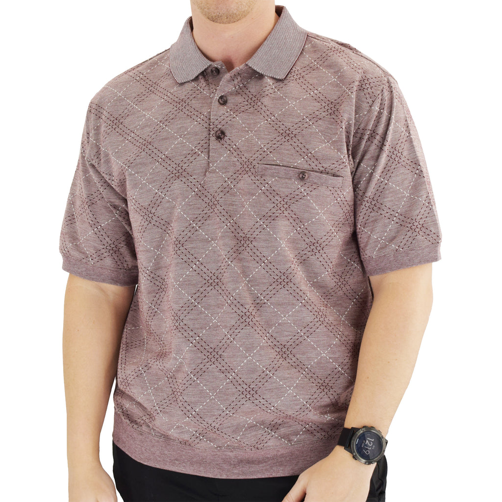 Classics by Palmland Short Sleeve Polo Shirt - Burgundy 6191-414 - theflagshirt
