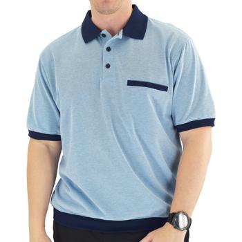 Classics by Palmland Short Sleeve Polo Shirt White - Big and Tall - 6191-415 - theflagshirt