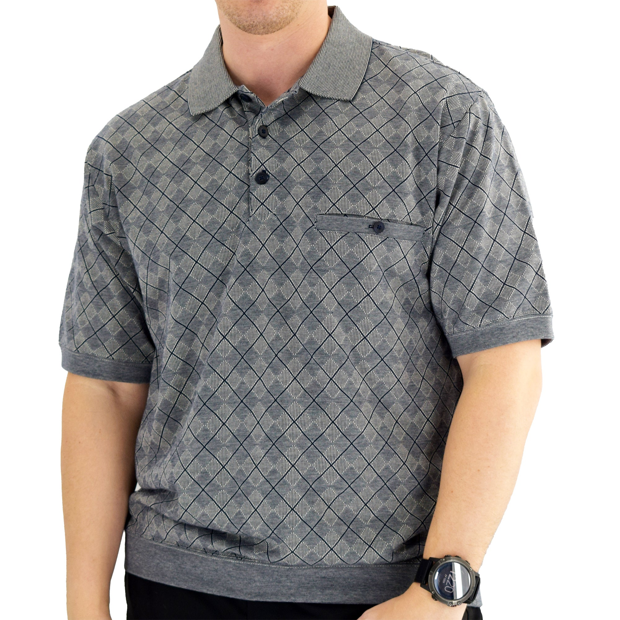 Classics by Palmland Short Sleeve Polo Shirt Navy - 6191-416 - theflagshirt
