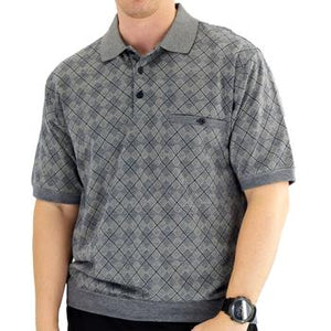 Classics by Palmland Short Sleeve Polo Shirt Navy - Big and Tall - 6191-416 - theflagshirt
