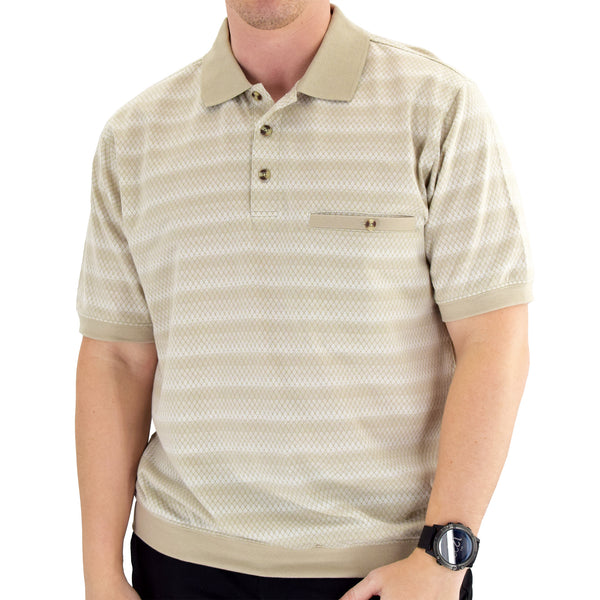 Classics by Palmland Short Sleeve Polo Shirt Taupe - Big and Tall - 6191-420BT - theflagshirt