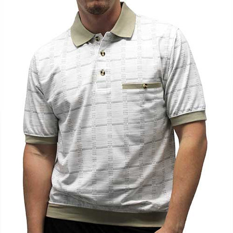 Classic by Palmland Allover Short Sleeve Banded Bottom Shirt 6191-520 - theflagshirt
