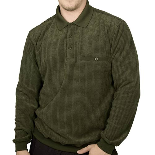 Classics by Palmland Long Sleeve Banded Bottom Shirt 6198-213 Hunter - theflagshirt