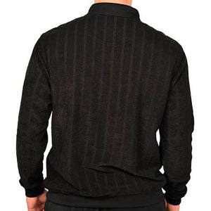 Classics by Palmland Long Sleeve Banded Bottom Shirt 6198-305 Big and Tall Black - theflagshirt