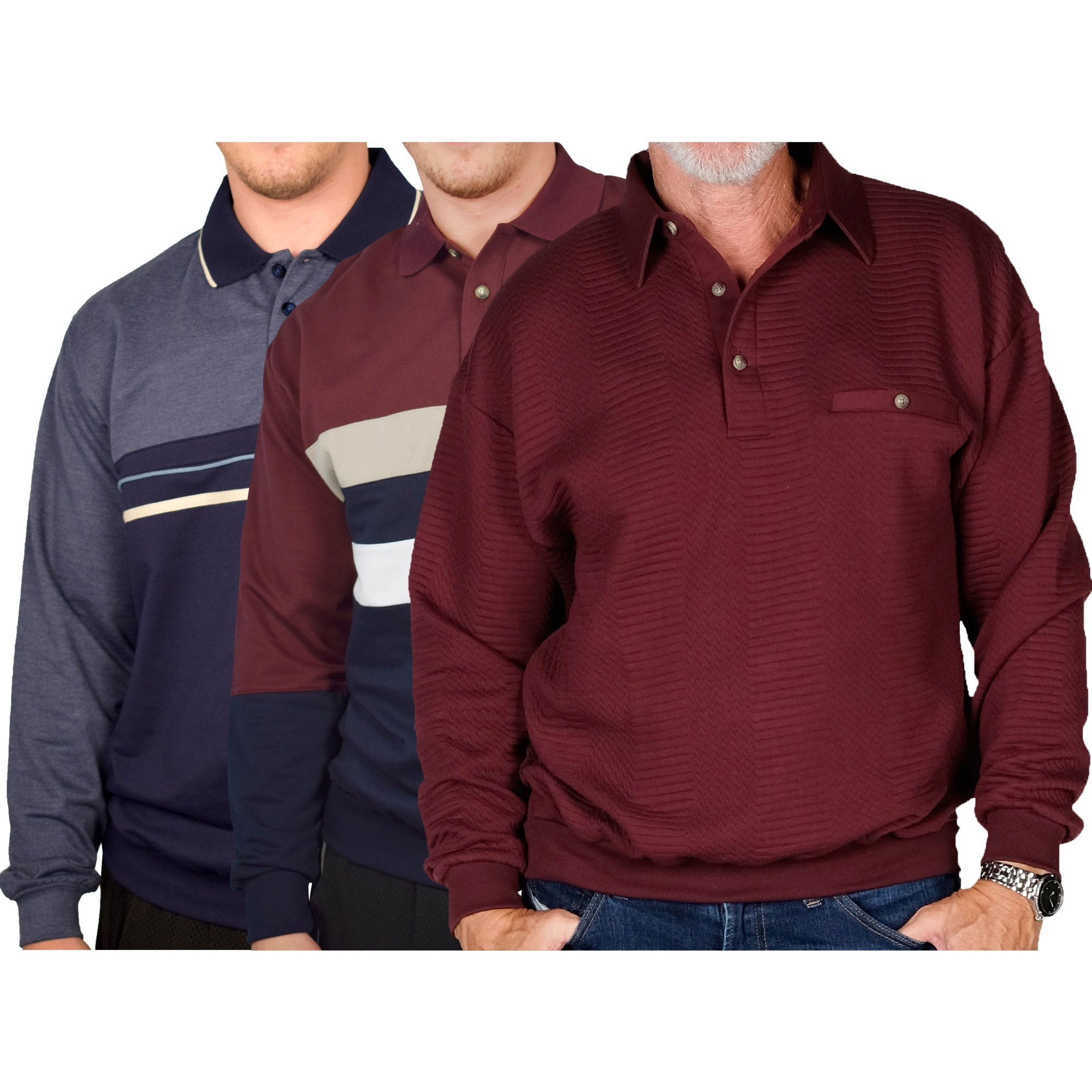 Classics Mix - 3 Long Sleeve Shirts Bundled