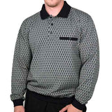 Classics by Palmland Long Sleeve Banded Bottom Shirt 6198-308 Black - theflagshirt